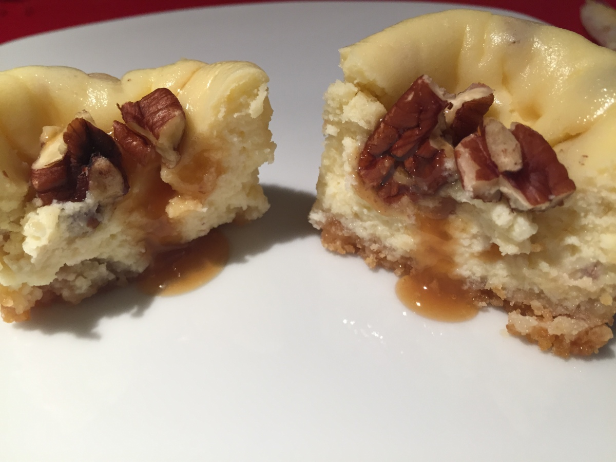 Mini Butter Pecan Cheesecakes w/ Shortbread cookie crust